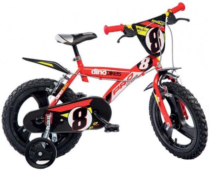 Dino Pro Cross 14 Inch 24 cm Jongens Knijprem Rood/Zwart