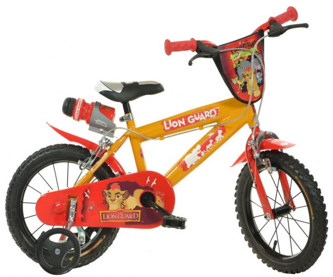 Dino The Lion Guard 16 Inch Jongens V Brake Oranje/Rood