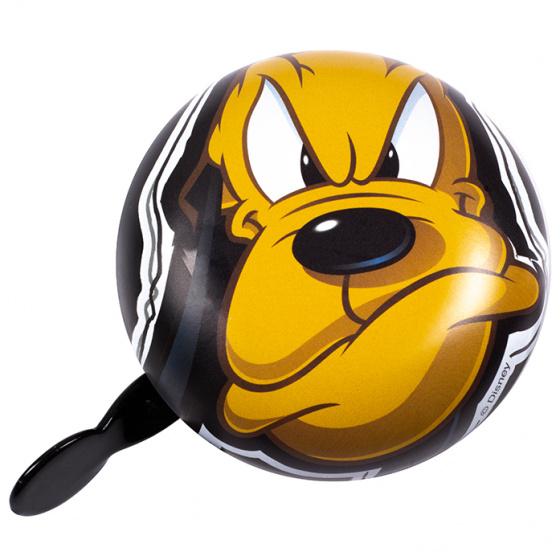 Disney fietsbel Pluto junior 8 cm zwart/geel