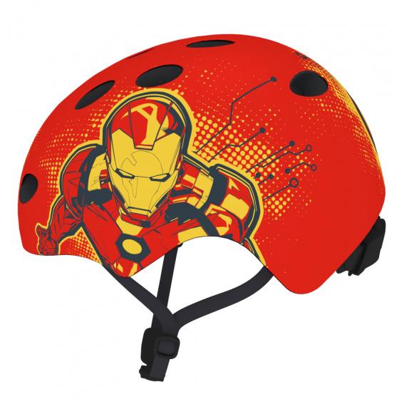 Disney fietshelm Iron Man jongens rood maat 54/58 cm