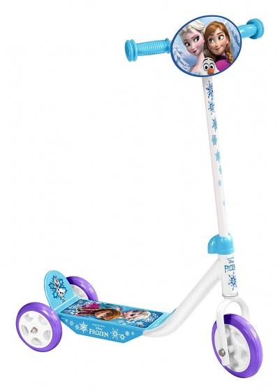 Disney Frozen 3 wiel kinderstep Meisjes Voetrem Wit/Blauw