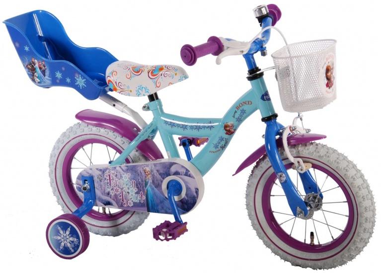 Disney Frozen kinderfiets 12 Inch 21,5 cm Meisjes Terugtraprem Blauw