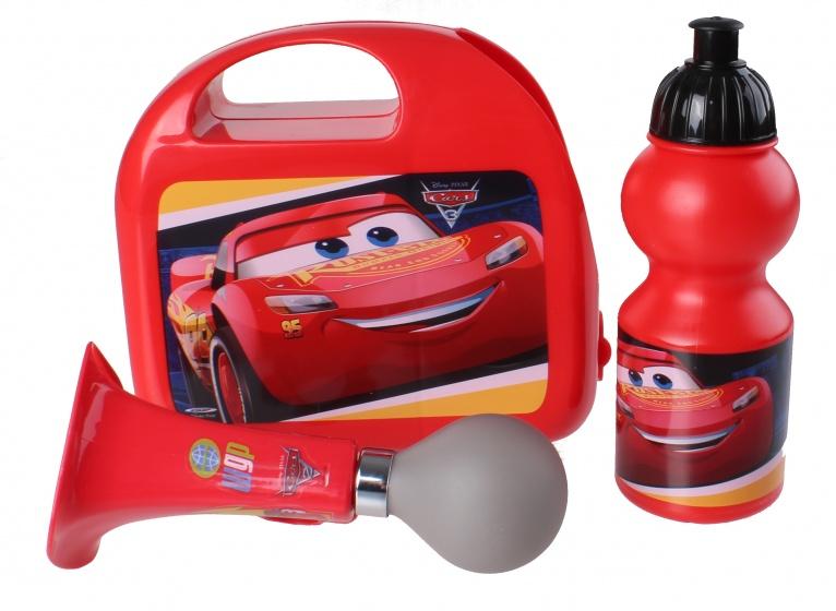 Korting Disney Kinderfietsset Combo Cars Jongens Rood 3 delig