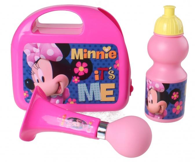 Korting Disney Kinderfietsset Combo Minnie Mouse Meisjes Rose 3 delig
