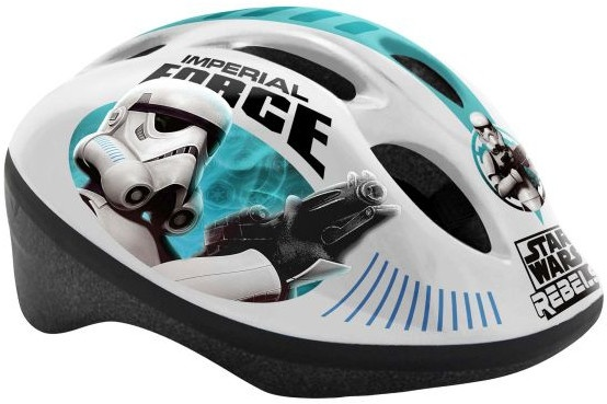 Disney kinderhelm Star Wars wit/turuoise maat 50/56