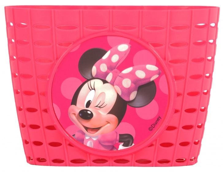 Disney Minnie Mouse fietsmandje plastic roze