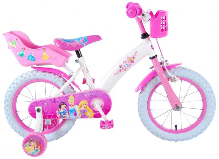 Disney - Princess 14 Inch 23,5 Cm Meisjes Terugtraprem Wit/roze