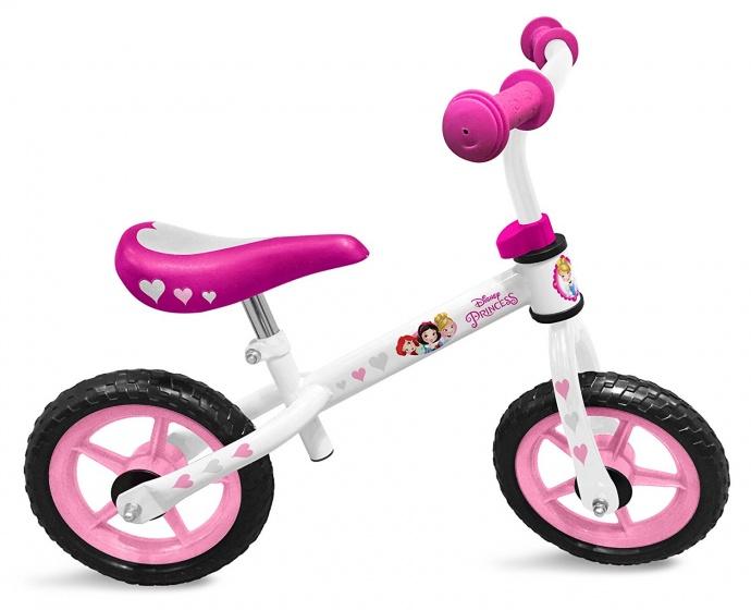 Disney Princess Loopfiets 12 Inch Meisjes Wit/Roze