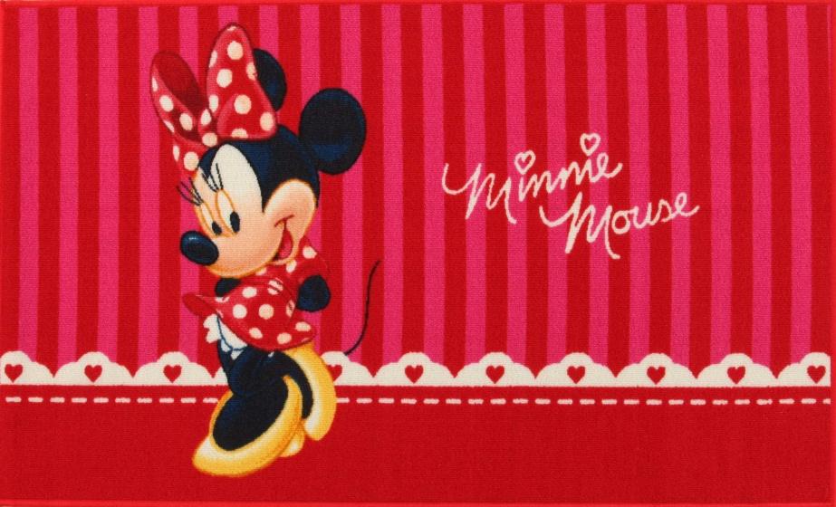 teppich Minnie Maus rot 140 x 80 cm