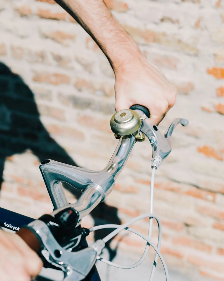Doiy fietsbel Honom 7 cm aluminium goud
