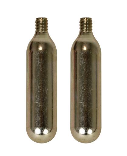 Korting Dresco Co2 Patronen 16 Gram Staal Zilver 2 delig
