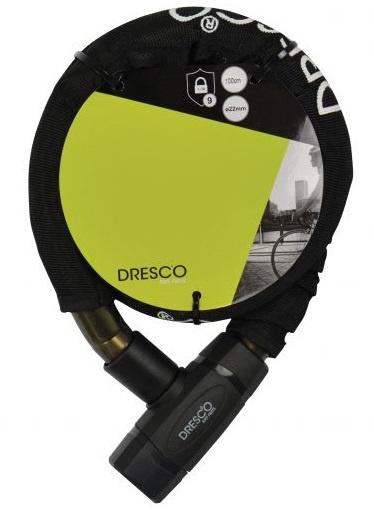 Dresco kabelslot 100 cm RVS zwart 3 delig