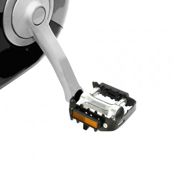 Dresco platformpedalen MTB 11 cm metaal chroom/zwart 2 stuks
