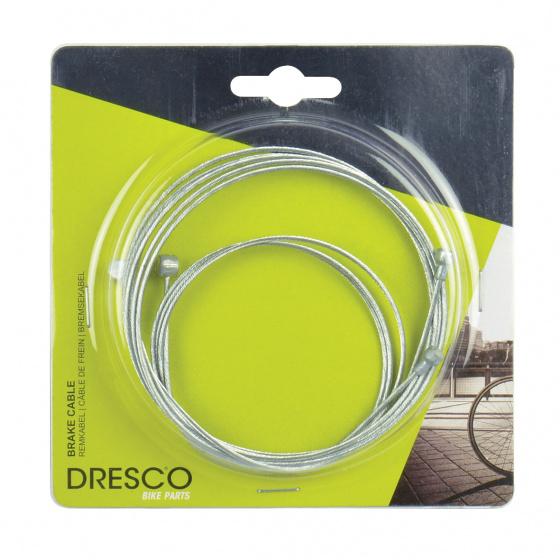 Dresco remkabel voor/achter metaal zilver