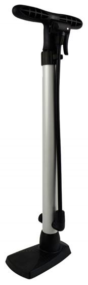 Korting Dresco Vloerpomp Compact 53 Cm Aluminium Zilver zwart