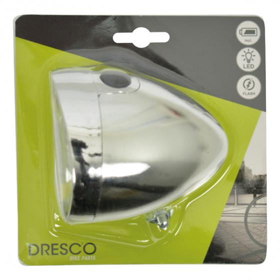 Dresco voorlicht Classic COB led batterijen chroom