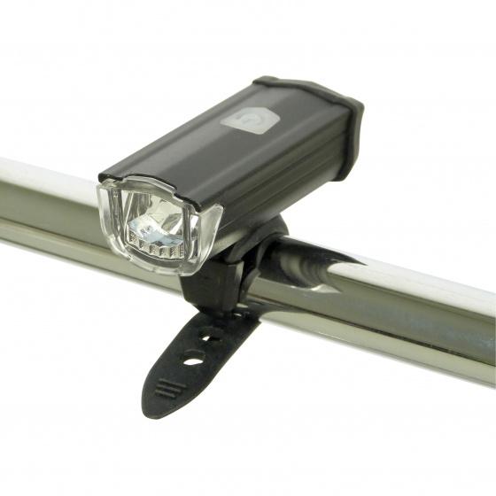 Dresco voorlicht USB oplaadbaar led 200 lumen zwart 3 delig
