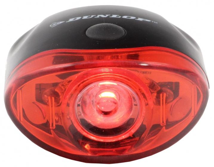 Dunlop achterlicht led 5 cm zwart/rood