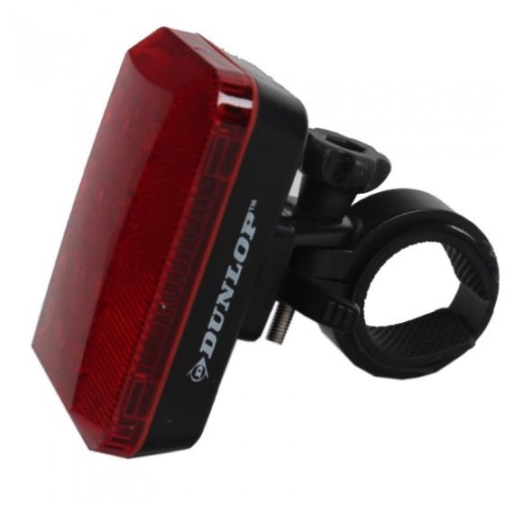 Dunlop achterlicht led batterij 7,5 cm rood