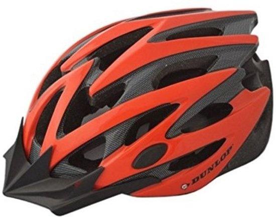 Dunlop fietshelm MTB maat 58/61 cm rood