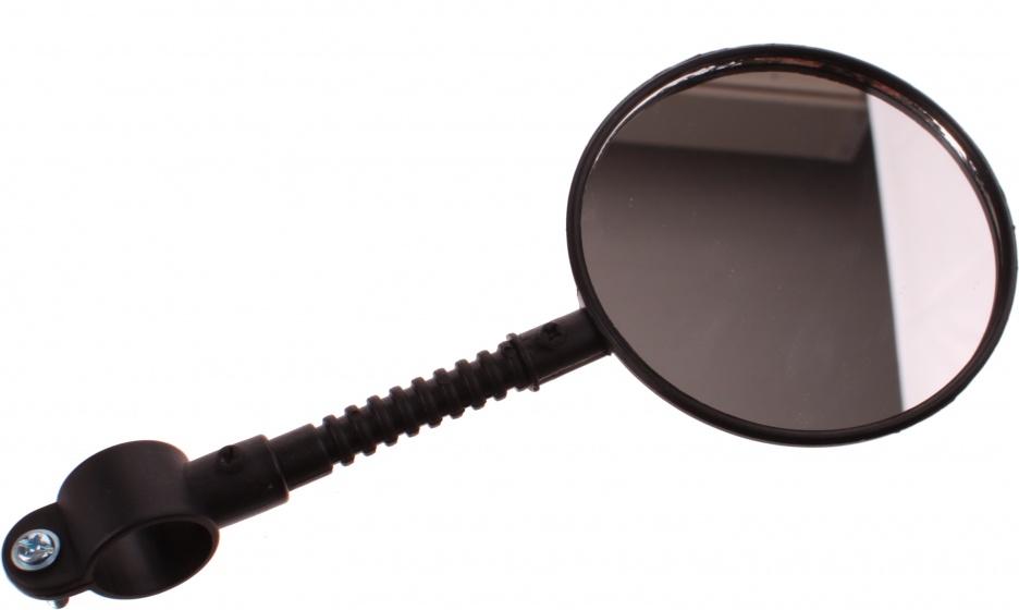 Dunlop fietsspiegel met reflector 80 mm zwart