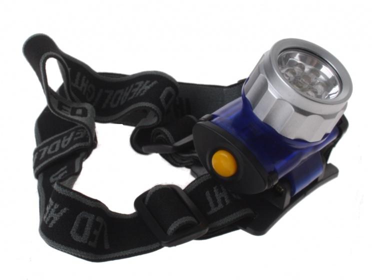Dunlop hoofdlamp led batterij 4 x 7 cm blauw/zwart