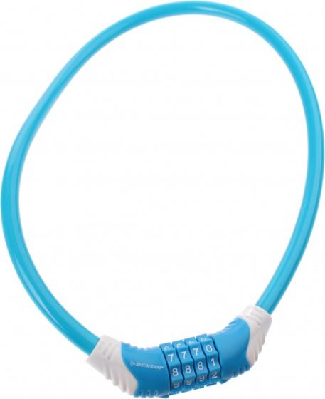 Dunlop kabelslot 650 x 10 mm cijfercombinatie blauw