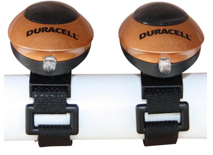 Duracell Fietsverlichting Set 2 LED zwart/goud