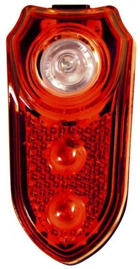 Duracell Achterlicht 3 LED Batterij rood