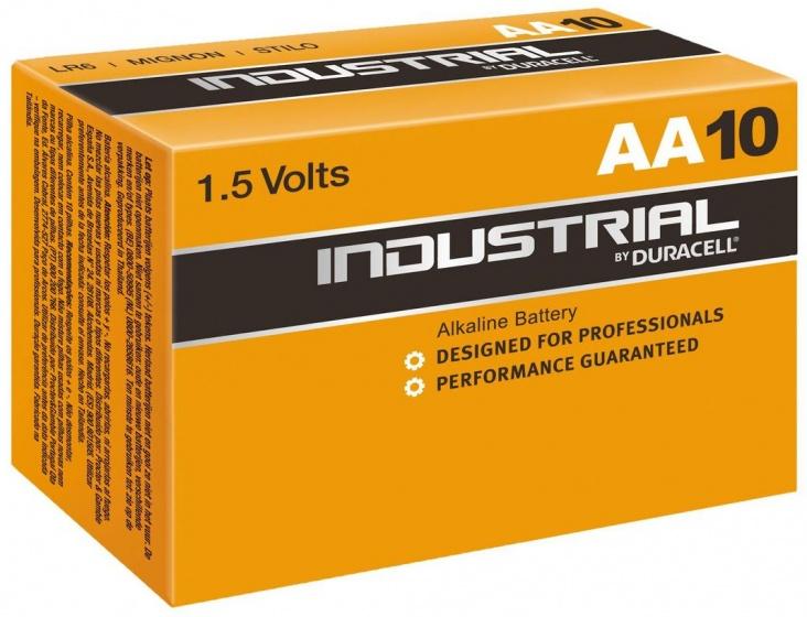Duracell batterijen AA Industrial 1.5V zwart/bruin 10 stuks