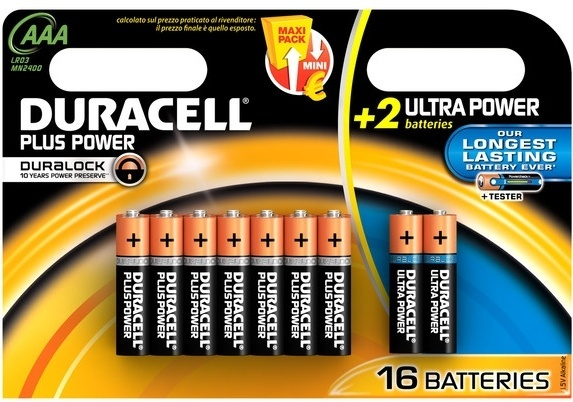 Duracell Batterijen Power Plus AAA 16 stuks