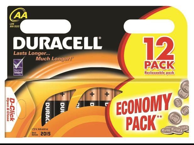 Duracell batterijen R06 AA 12 stuks