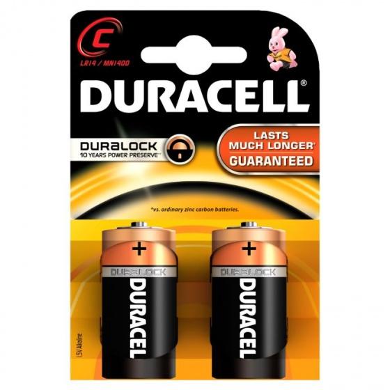 Duracell batterijen R14 C alkaline 2 stuks
