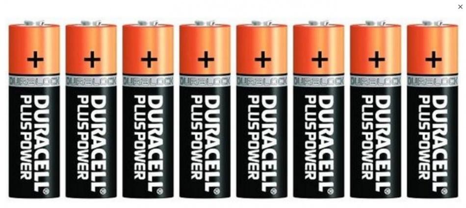 Duracell batterijen pluspower AAA MN2400 8 stuks