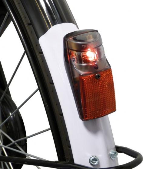 Dyto achterlicht met reflector led batterijen rood/transparant