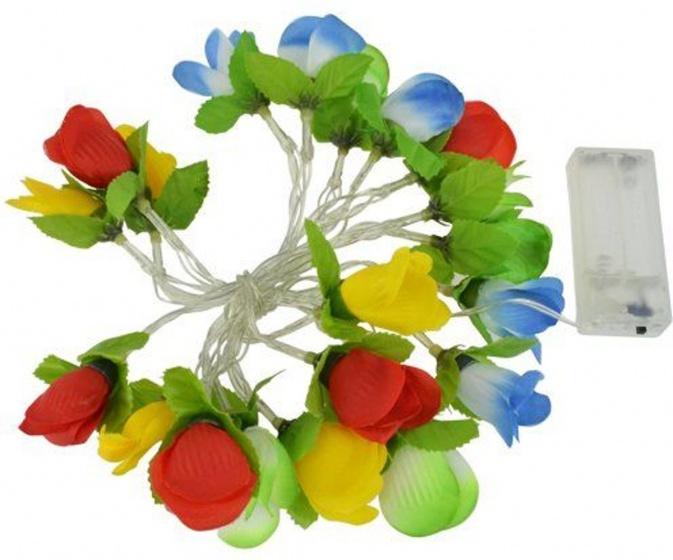 Dyto bloemenslinger met led verlichting 200 cm