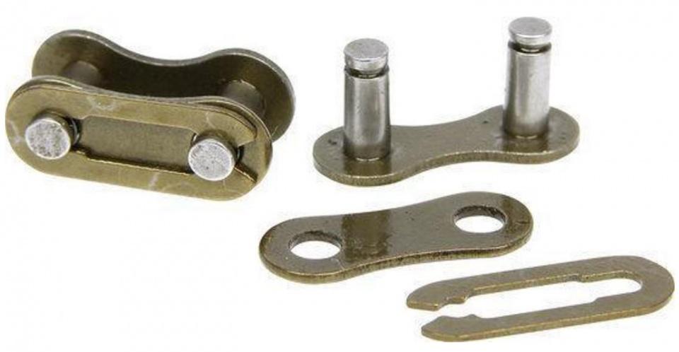 Dyto kettingschakels 1/2 x 1/8 brons staal 2 stuks