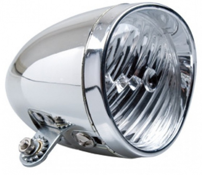 Dyto koplamp Classic banddynamo 6V 9 cm chroom