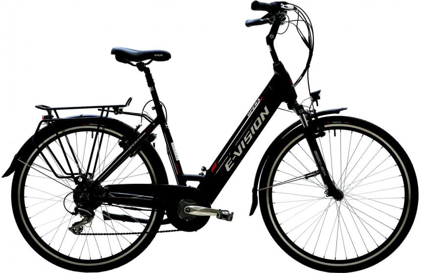 E vision Opera 28 Inch 48 cm Dames 7V V Brakes Zwart - Elektrische fiets