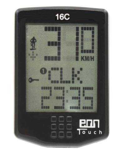 Echowell Fietscomputer EON Touch 16C Draadloos 16 Functies
