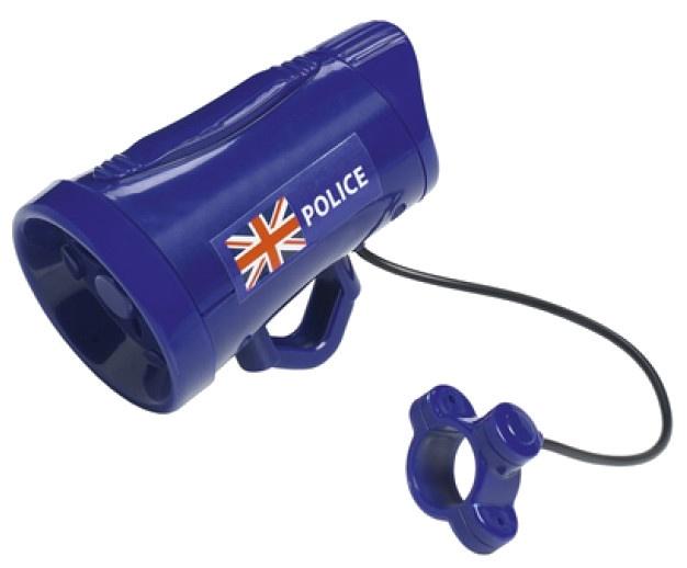 Eddy Toys fietssirene Engelse politie jongens 12 cm blauw