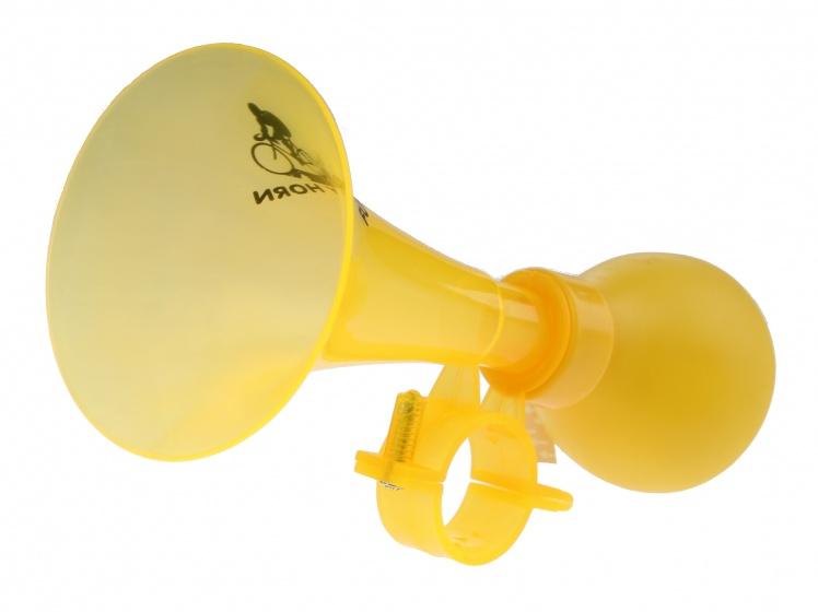 Eddy Toys fietstoeter geel 14,5 cm
