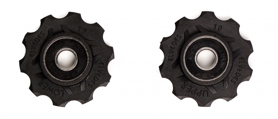 Elvedes derailleurwieltjes 10 tanden 8S zwart 2 stuks