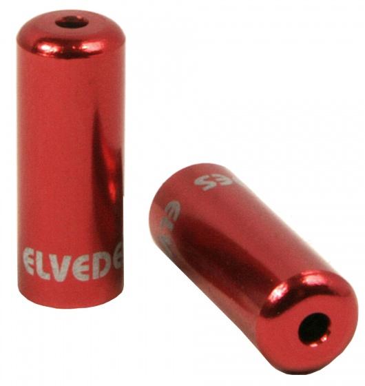 Elvedes kabelhoedjes 5 mm rood 50 stuks
