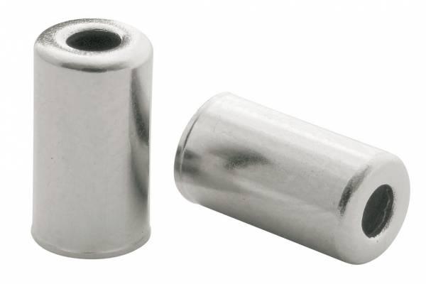 Elvedes kabelhoedjes messing 5 mm zilver 200 stuks