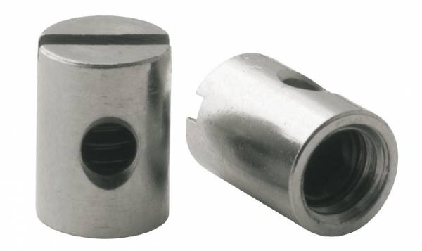Elvedes kabelklembout M5 x 7 mm messing zilver 50 stuks