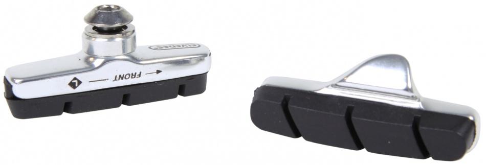 Elvedes remblokken V brake 55 x 13 mm zwart/zilver 2 stuks