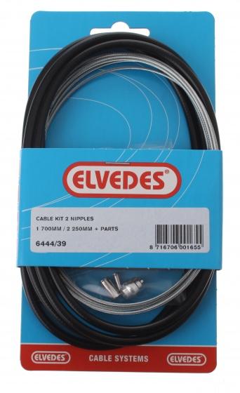 Elvedes Remkabelset achter 6444/39 universeel 1700/2250 mm zwart