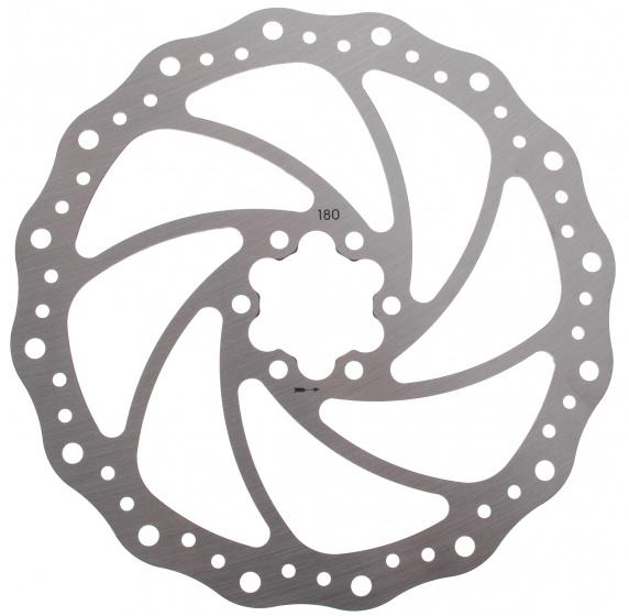 Elvedes remschijf 180 mm 6 gaats staal zilver