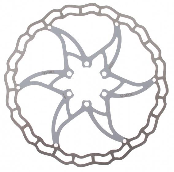 Elvedes remschijf 180 mm 6 gaats staal zilver/wit